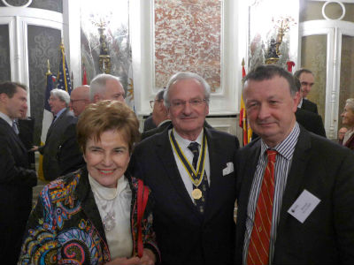 Mme Nicole Tordjman - France Amériques / M Martin Boyer - Sons of American Revolution / M Bertrand Savatier - Mémoire Jacques de Liniers
